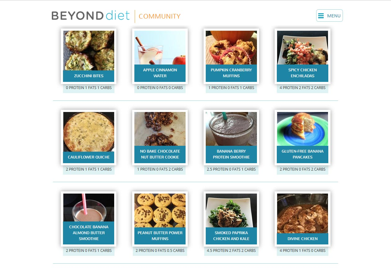 Beyond diet recipes