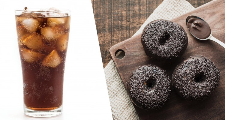 Donuts and soft drinks